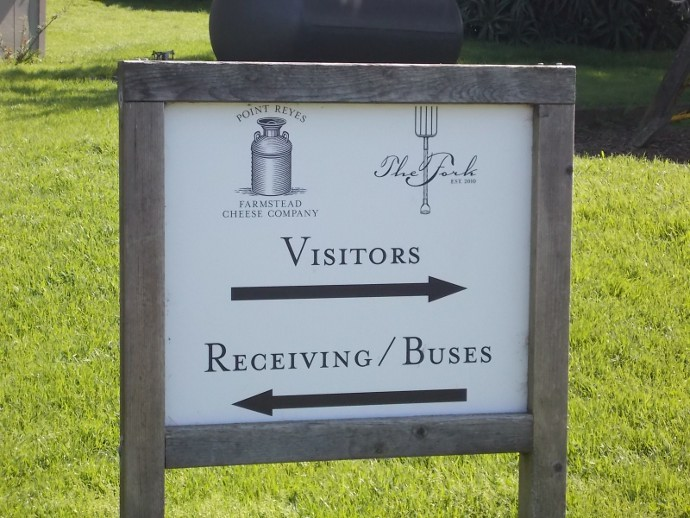 Photo of the sign at Point Reyes Farmstead