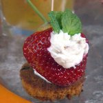 Long Stem Strawberry Stuffed with Purple Haze Goat Cheese
