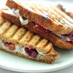Humboldt Fog Goat Cheese & Roasted Grape Panini