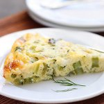 Spring Quiche: Asparagus, Green Garlic, and Humboldt Fog