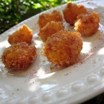 Honey Glazed Fried Manchego Cheese