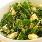 Watercress, pear and Cashel blue cheese salad