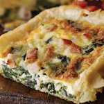Bacon, Spinach and Cashel Blue Cheese Tart