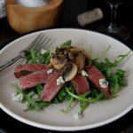Beef Tagliata Arugula and Mushroom Salad with Kerrygold Cashel Blue