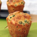 Cheese and Pea Muffins