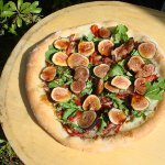 Brown Turkey Fig, Guanciale and Maytag Blue Pizza