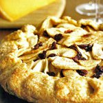 Mimolette Cheese and Apple-Cranberry Galette
